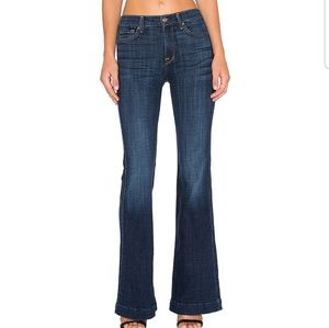 7 For All Mankind Low Rise Ginger Flare Jeans